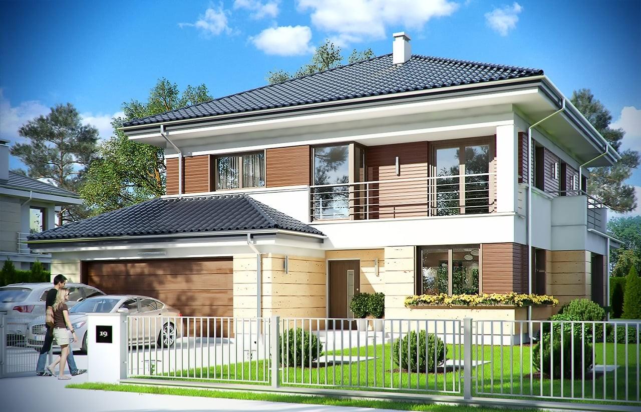 Projekt domu Opal 2 - wizualizacja frontowa