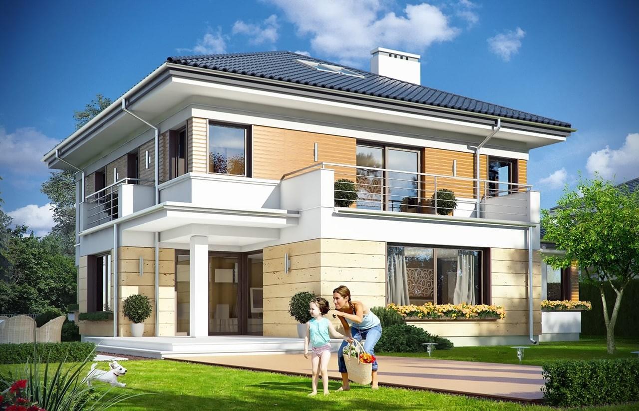 Projekt domu Opal 2 - wizualizacja tylna