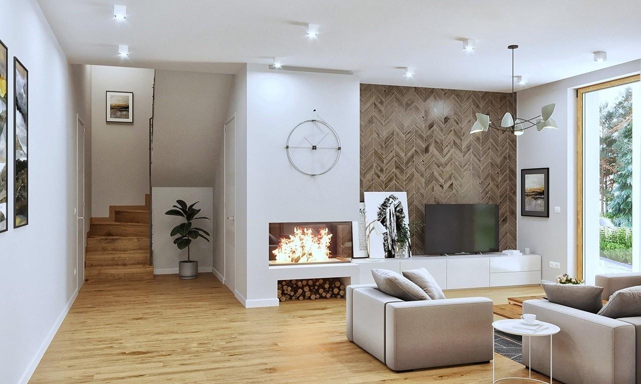 Wnętrze domu Optymalny wariant B - odbicie lustrzane