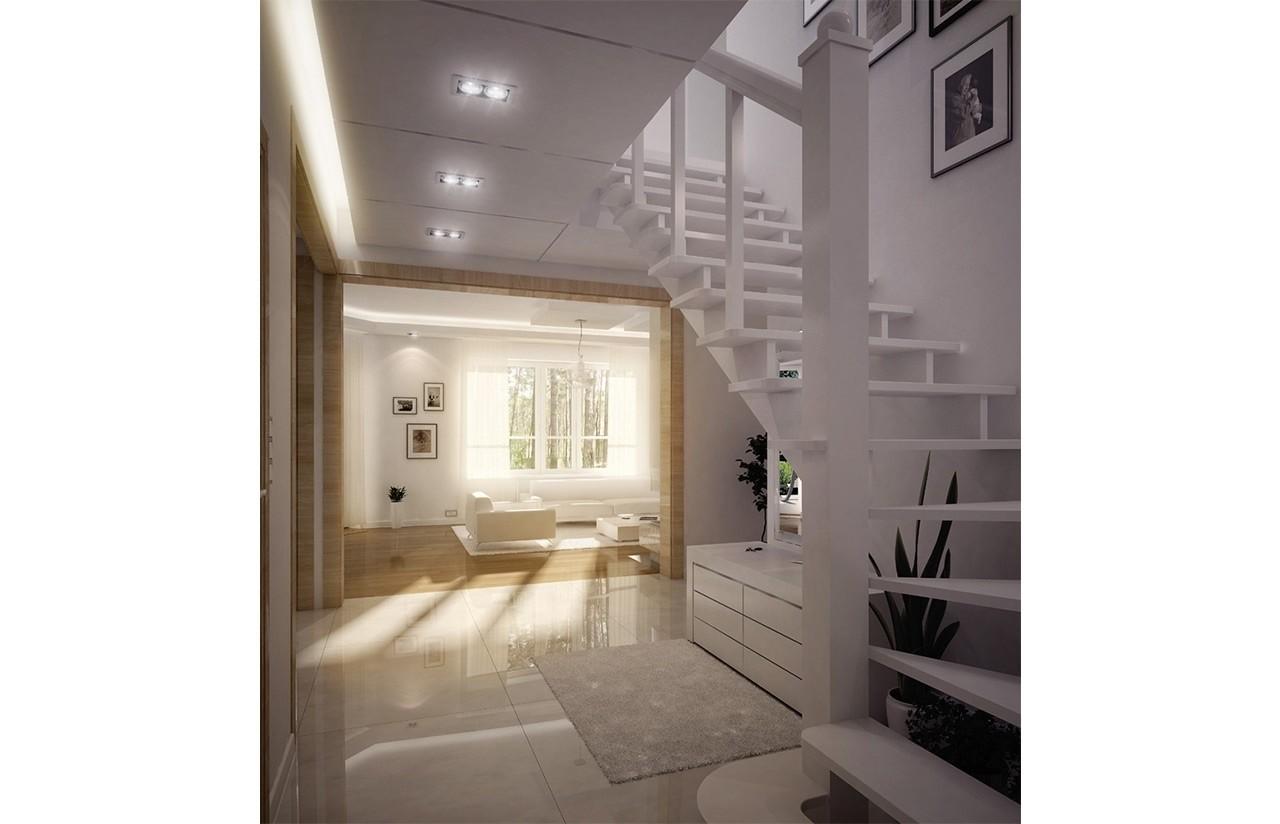Wnętrze domu Orlik odbicie lustrzane