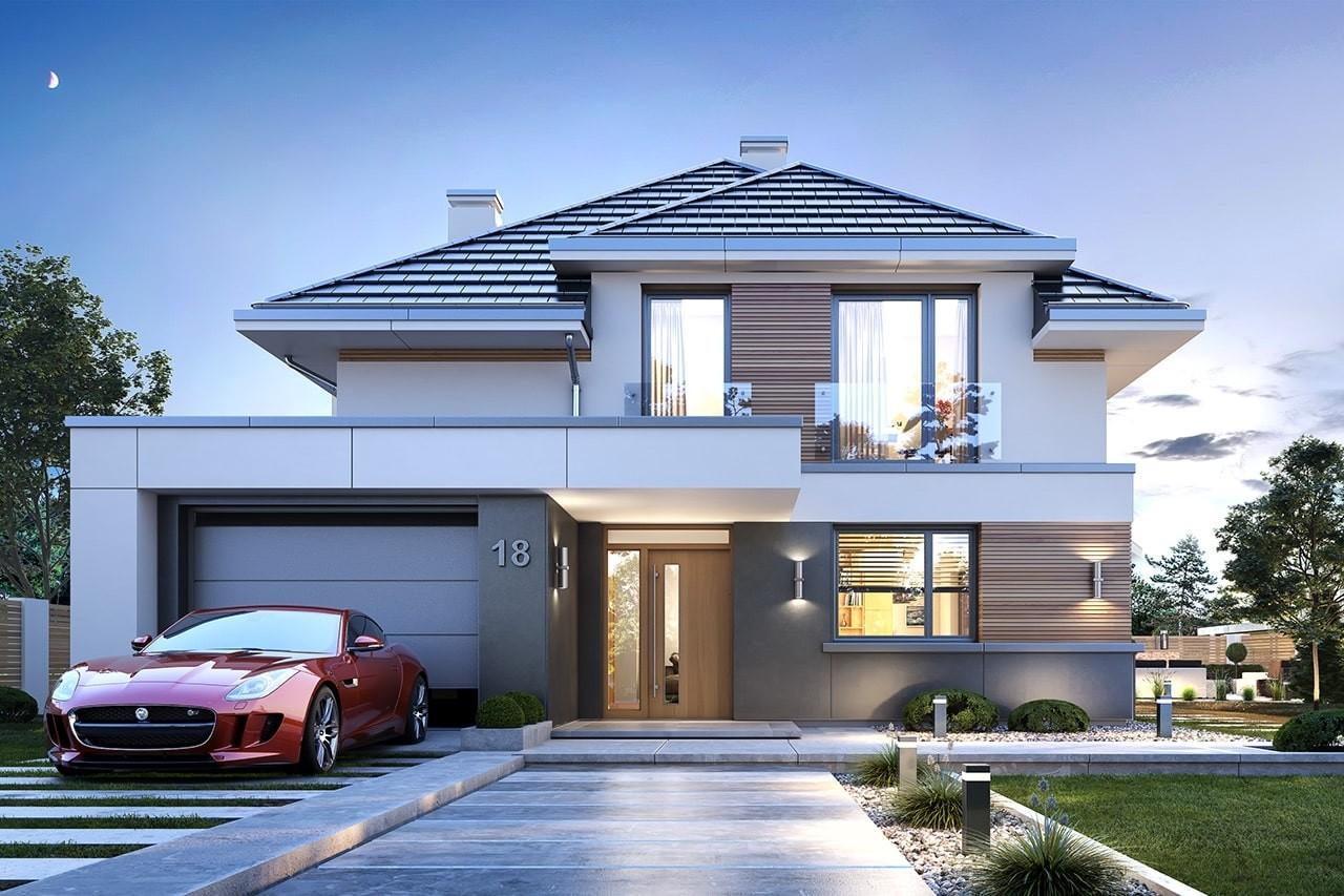 Projekt domu Oszust 2 - wizualizacja frontowa