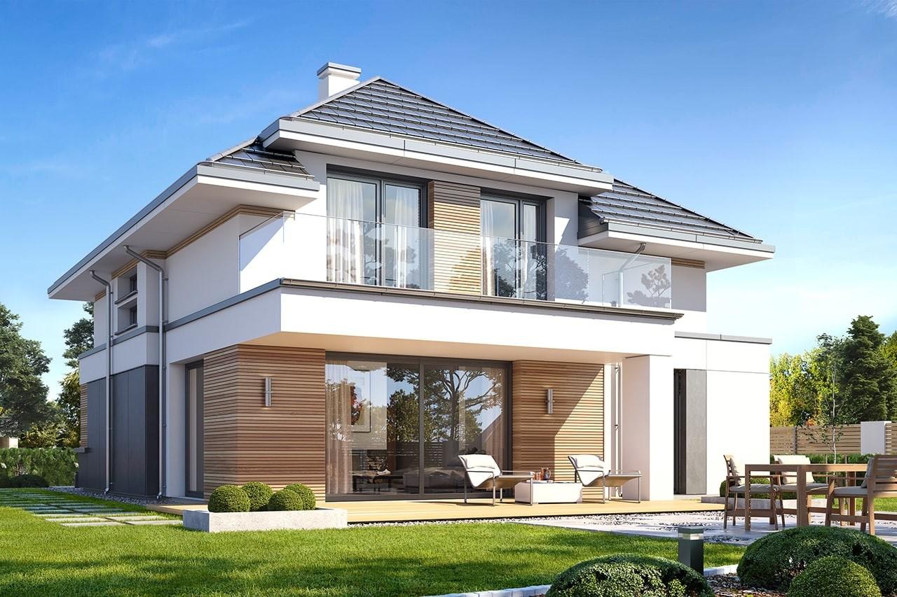 Projekt domu Oszust 2 - wizualizacja tylna