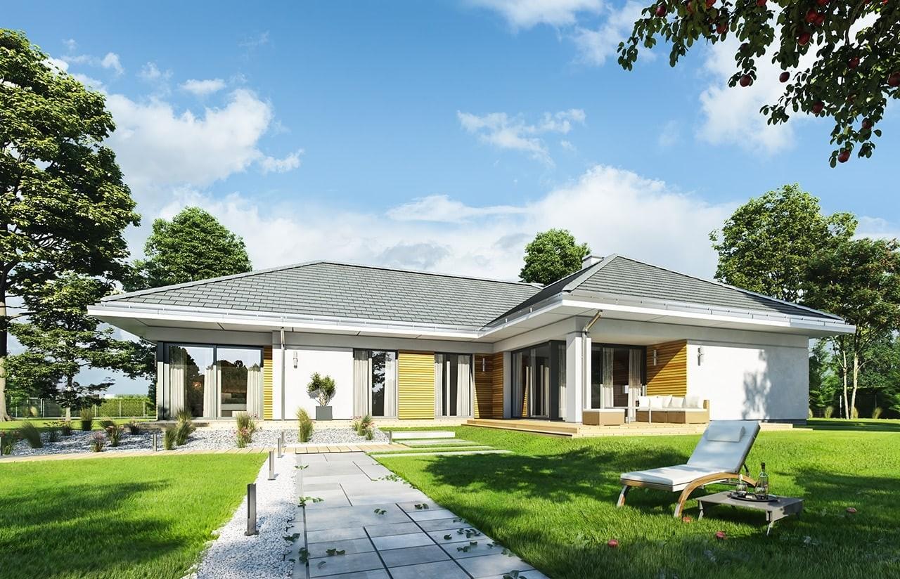 Projekt domu Parterowy 2 - wizualizacja tylna