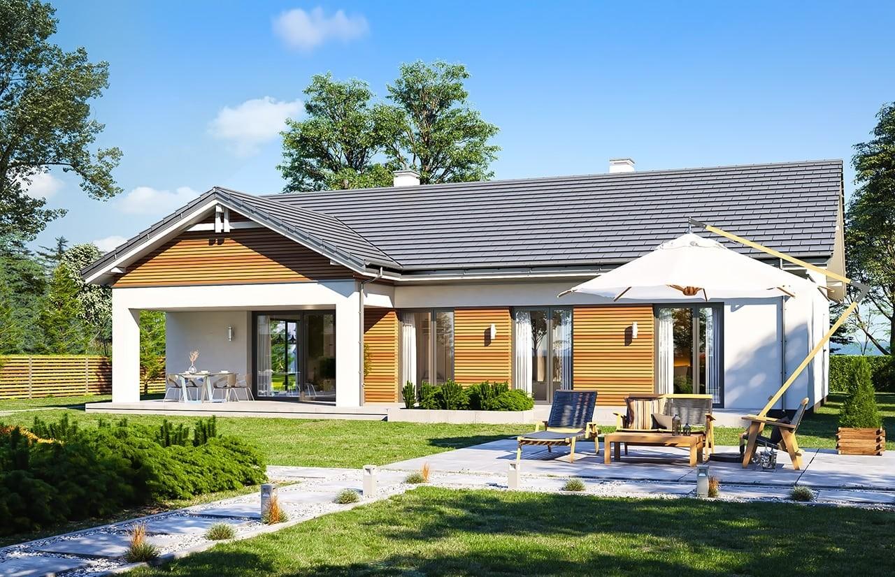 Projekt domu Parterowy 4 - wizualizacja tylna