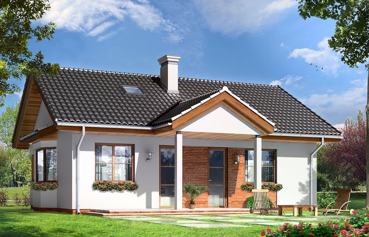Projekt domu Perełka - wizualizacja tylna