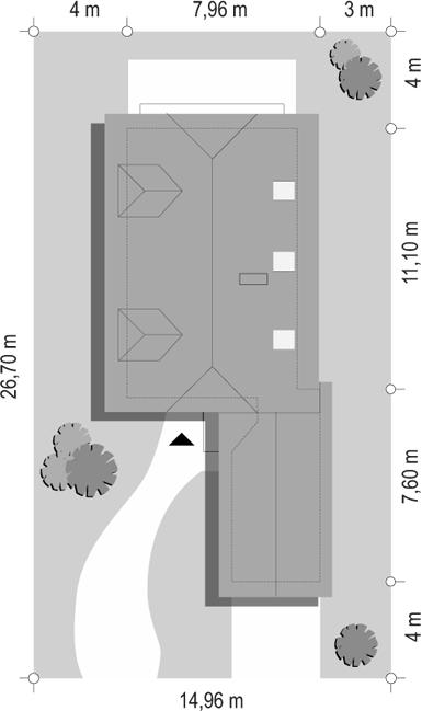 Pierwszy dom 2 - sytuacja odbicie lustrzane