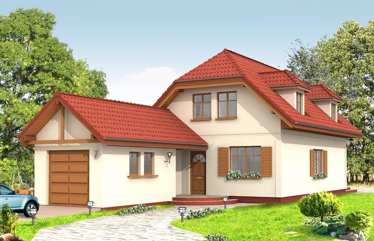 Projekt domu Pierwszy Dom 2 - wizualizacja frontowa