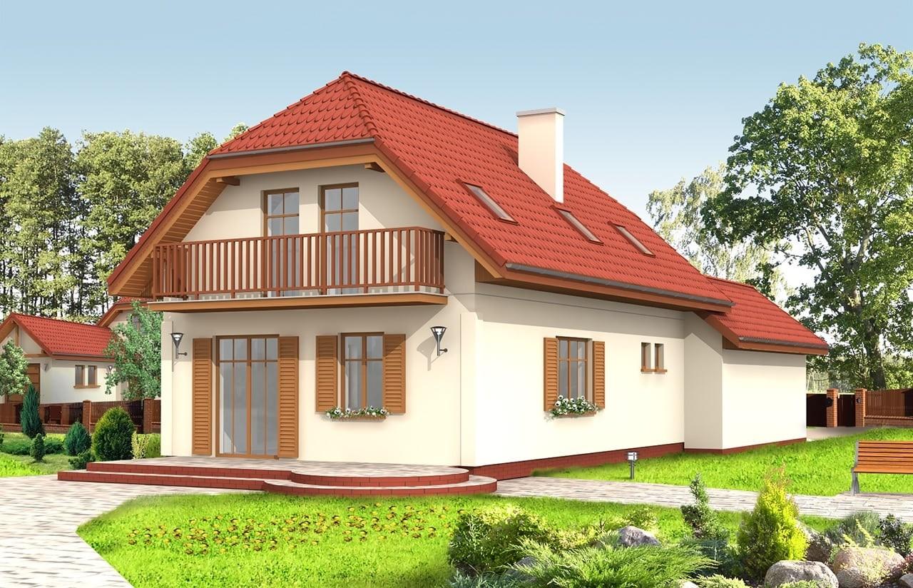 Projekt domu Pierwszy Dom 2 - wizualizacja tylna