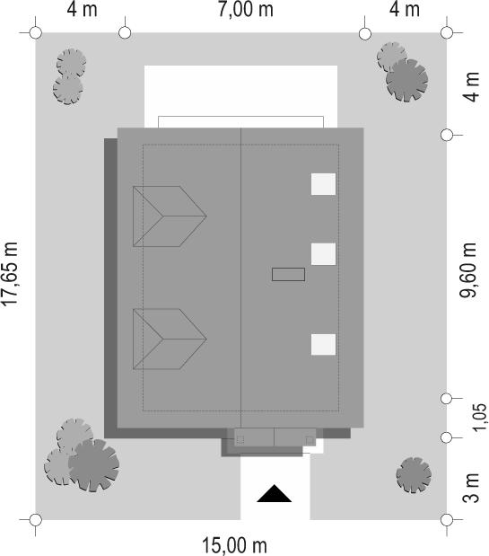 Pierwszy dom - sytuacja odbicie lustrzane