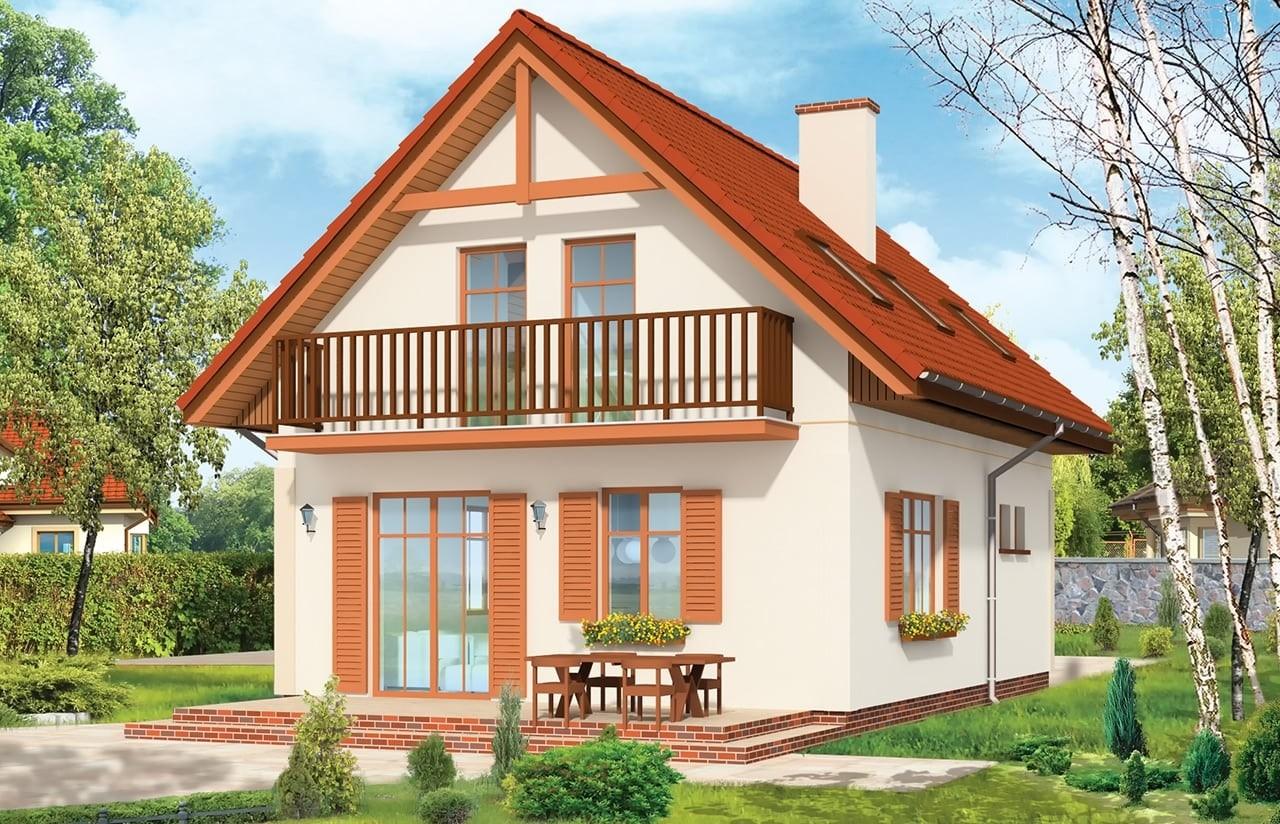 Projekt domu Pierwszy Dom - wizualizacja tylna