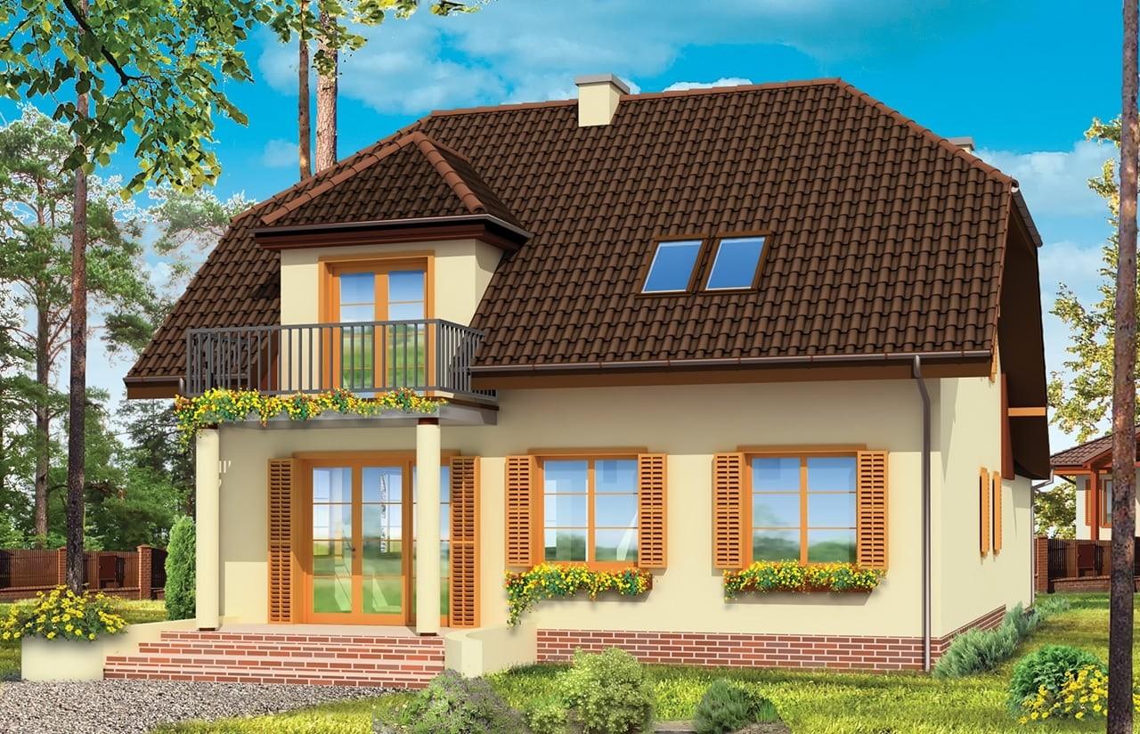 Projekt domu Pogodny 4 - wizualizacja tylna