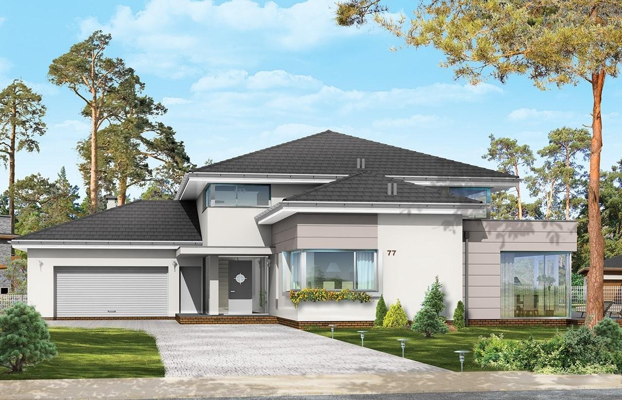 Projekt domu Prestiżowy - wizualizacja frontowa