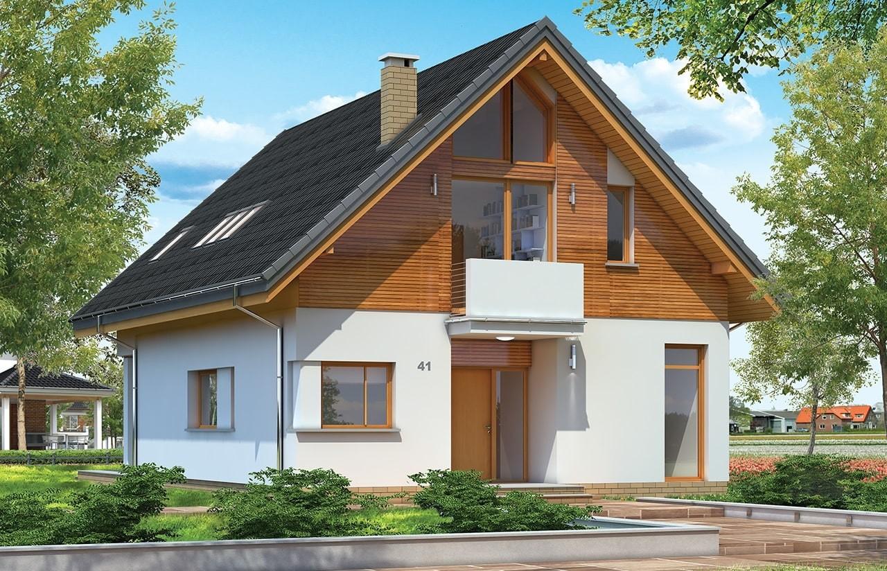 Projekt domu Prosty - wizualizacja frontowa