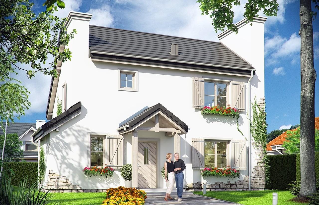 Projekt domu Prowansalski - wizualizacja frontowa
