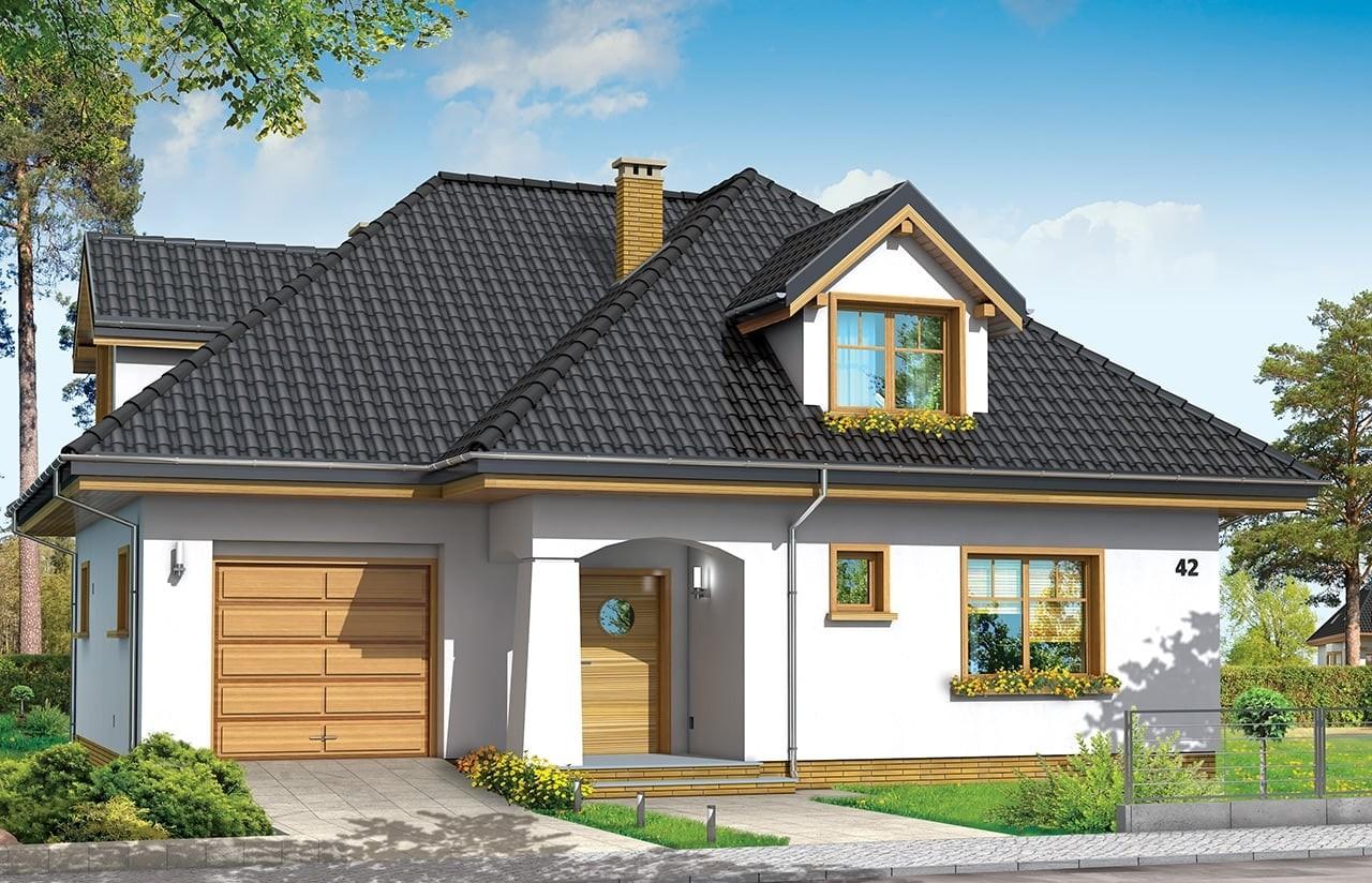 Projekt domu Prymus - wizualizacja frontowa