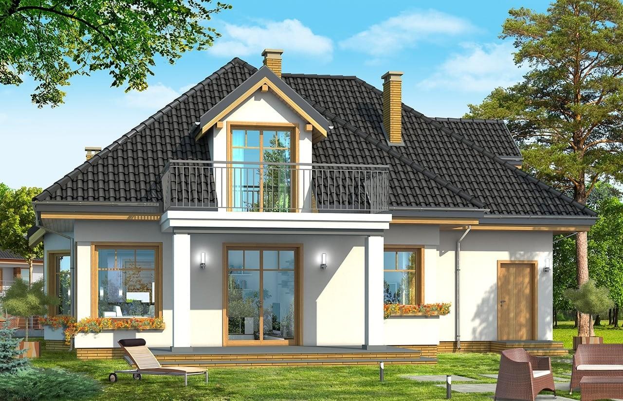 Projekt domu Prymus - wizualizacja tylna