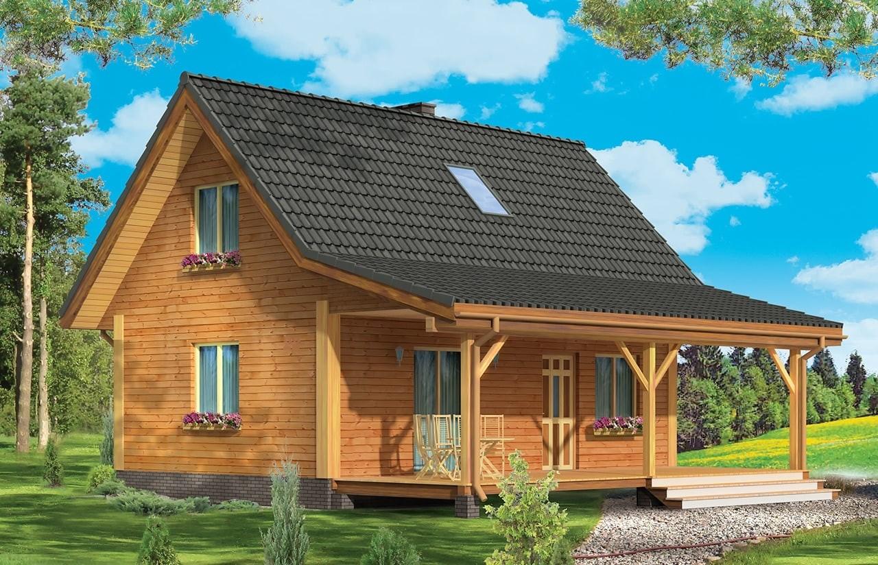 Projekt domu Przepiórka - wizualizacja frontowa