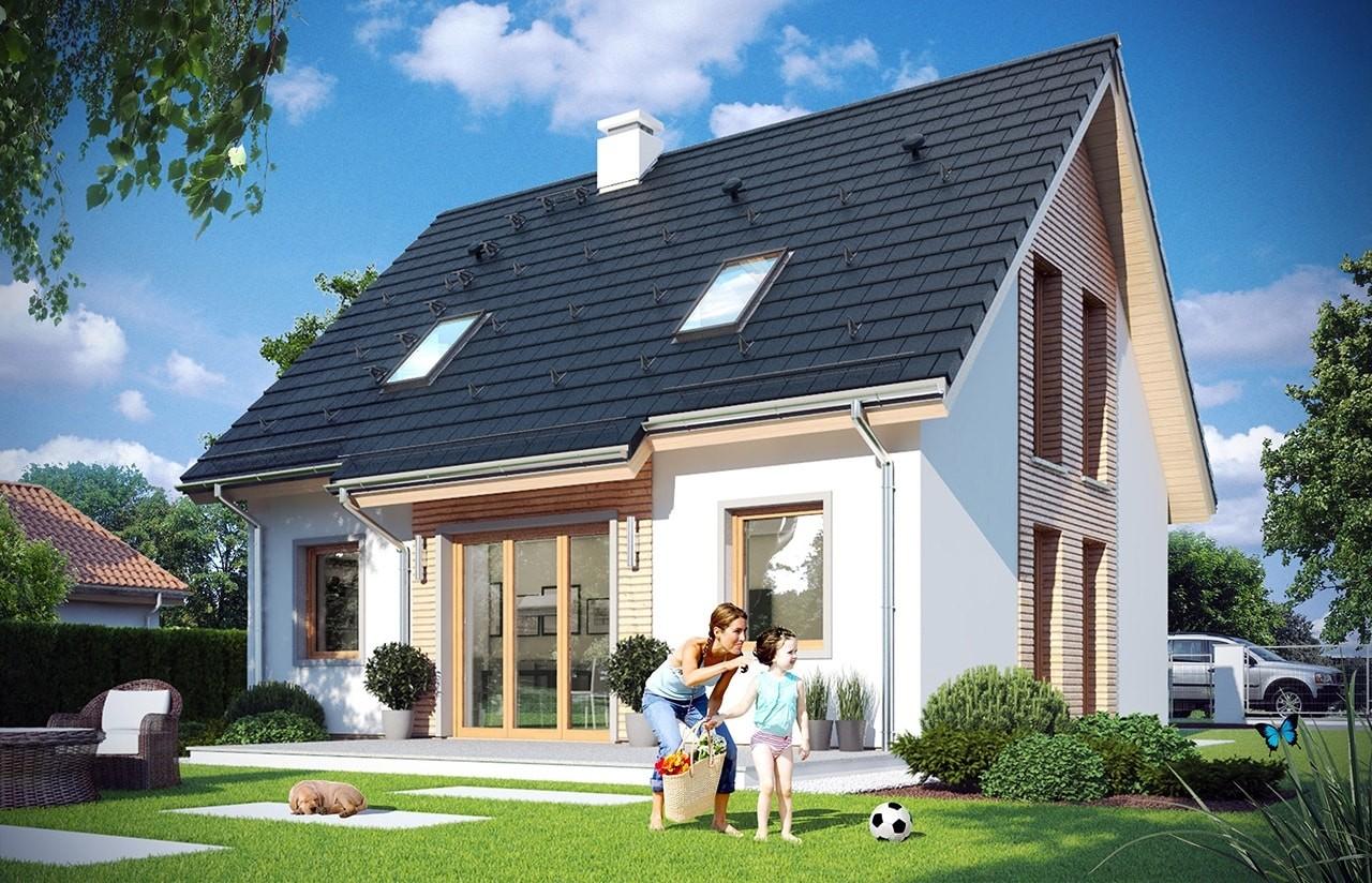 Projekt domu Przygoda 2 - wizualizacja tylna