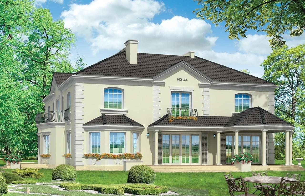 Projekt domu Regent - wizualizacja tylna