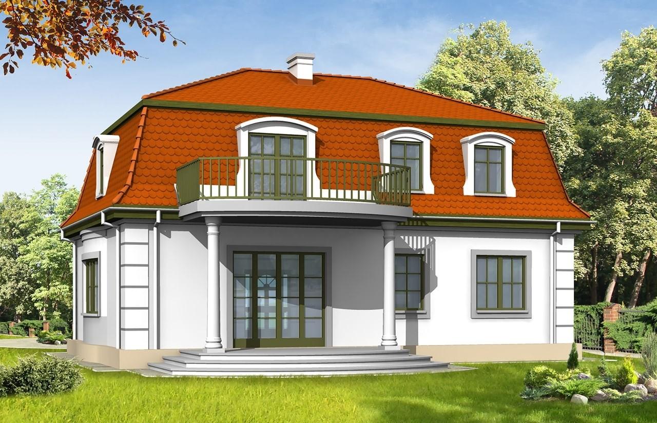 Projekt domu Retro - wizualizacja tylna