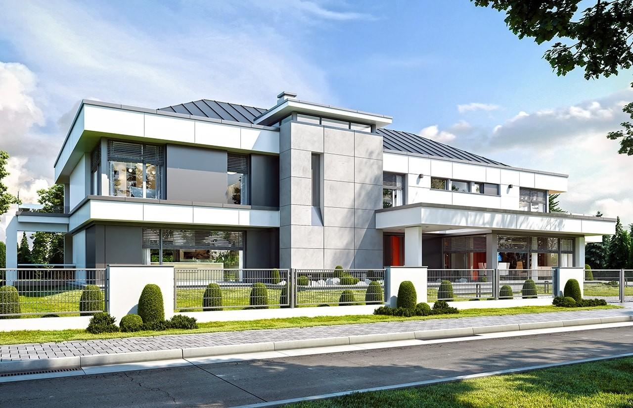 Projekt domu Rezydencja Floryda - wizualizacja frontowa
