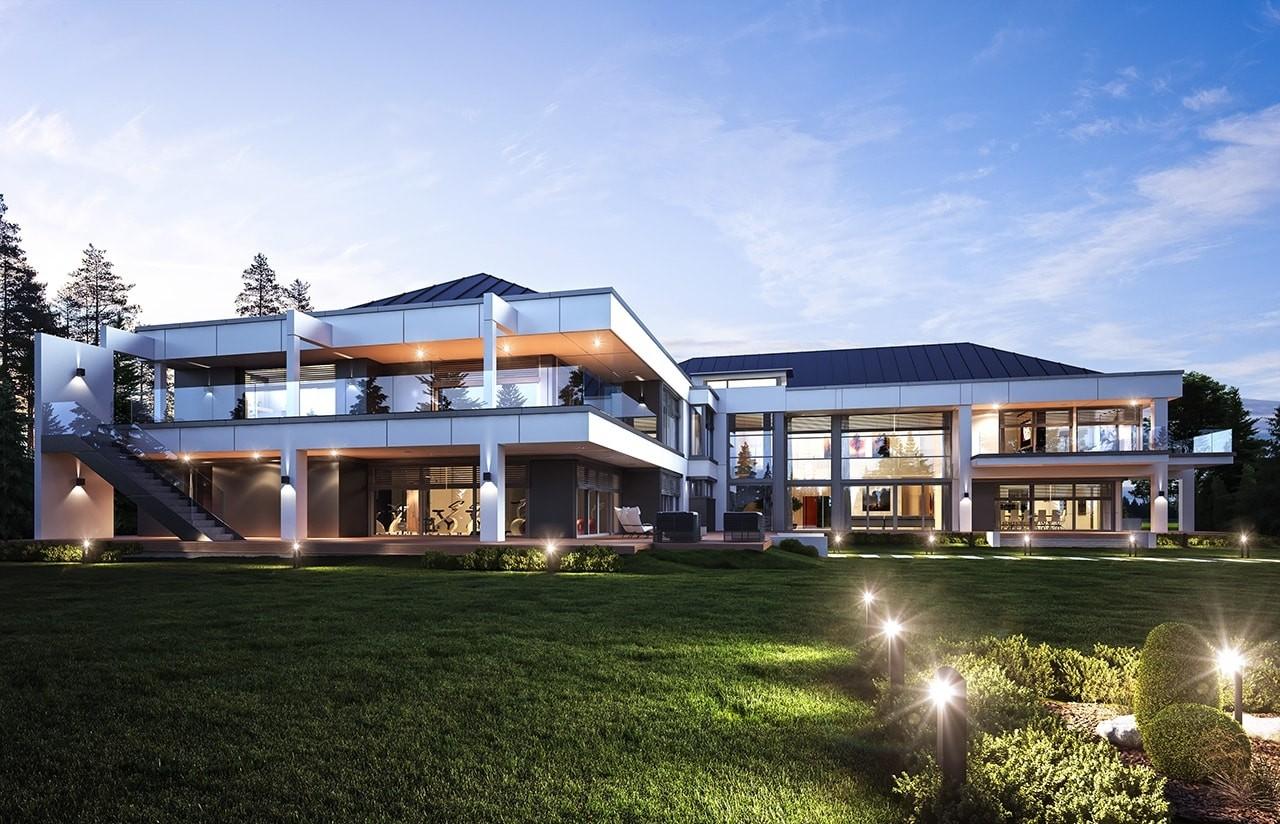 Projekt domu Rezydencja Floryda - wizualizacja tylna