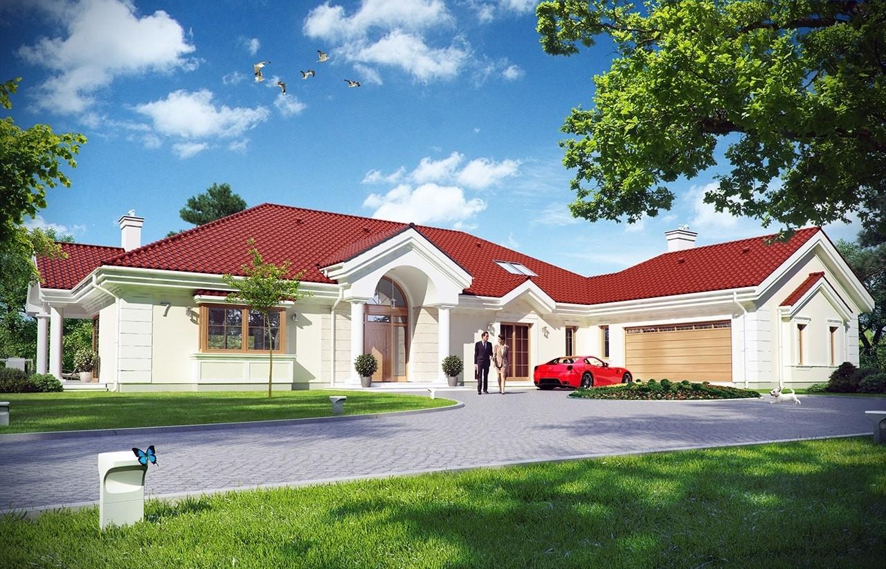 Projekt domu Rezydencja Parkowa 2 - wizualizacja frontowa