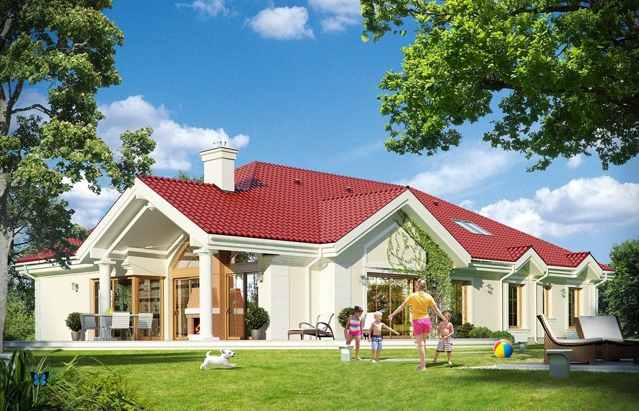 Projekt domu Rezydencja Parkowa 2 - wizualizacja tylna odbicie lustrzane