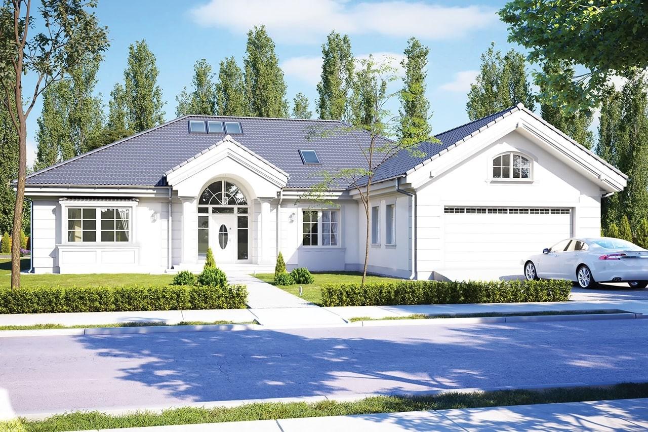 Projekt domu - Rezydencja Parkowa 3 C - wizualizacja frontowa