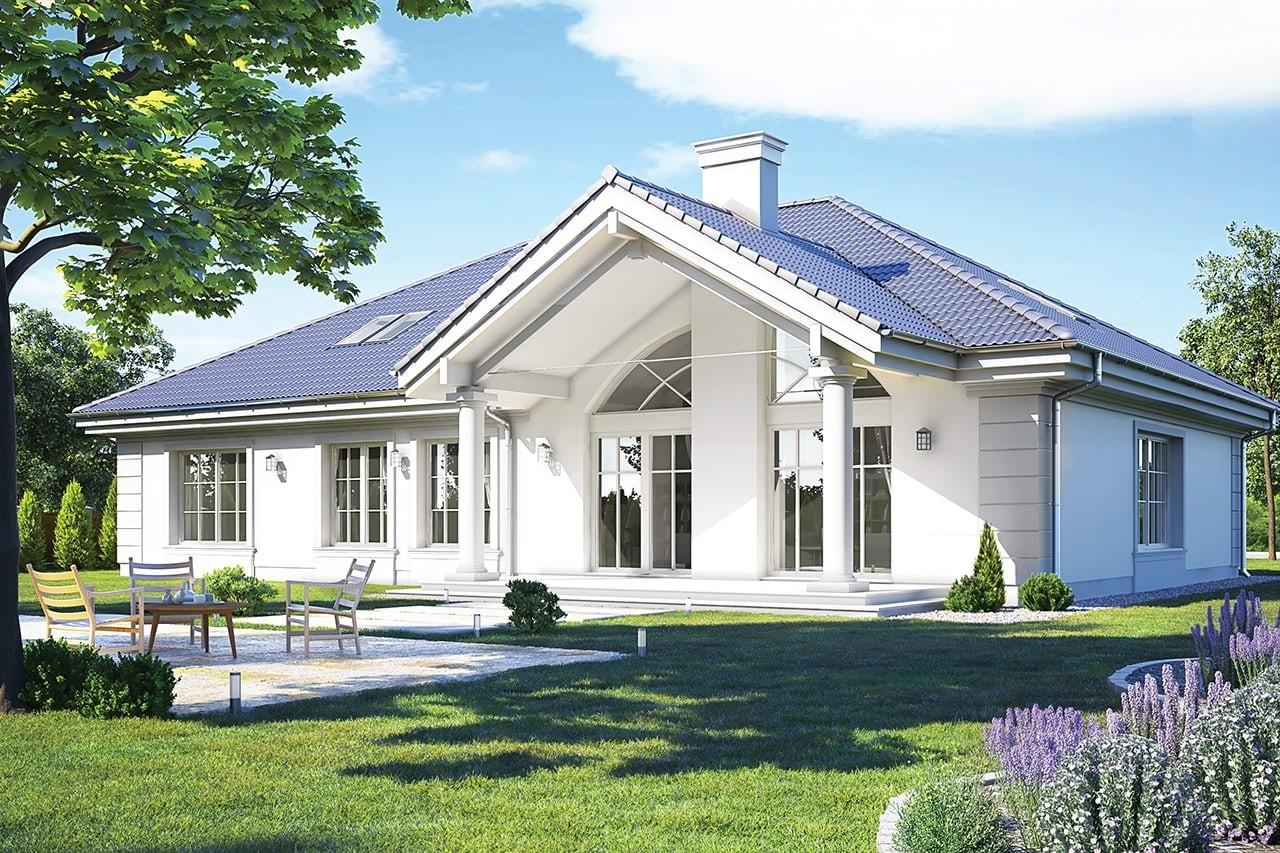 Projekt domu - Rezydencja Parkowa 3 C - wizualizacja tylna