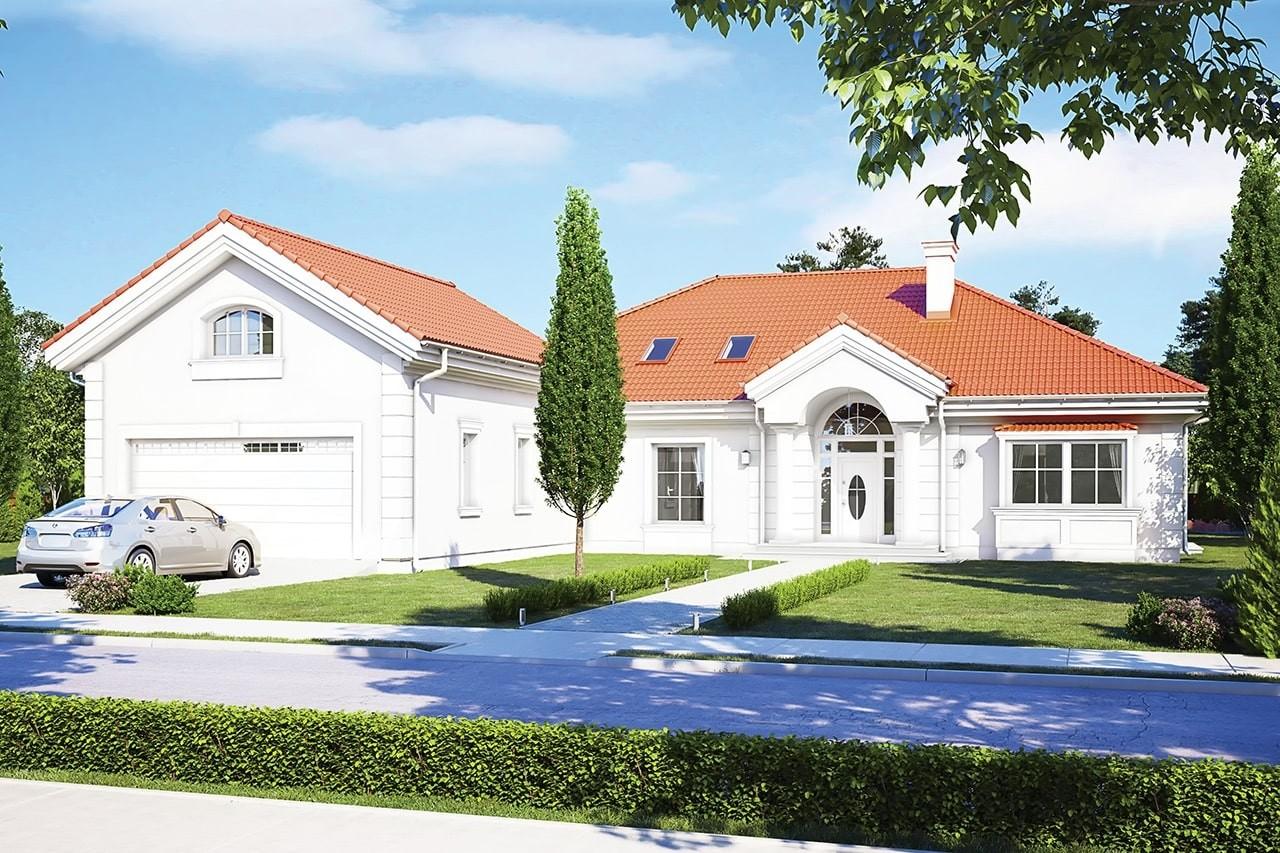 Projekt domu - Rezydencja Parkowa 3 D - wizualizacja frontowa