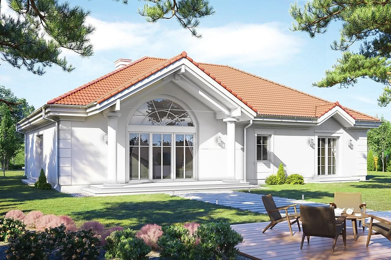 Projekt domu - Rezydencja Parkowa 3 D - wizualizacja tylna