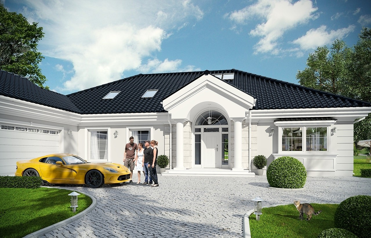 Projekt domu Rezydencja Parkowa 3 - wizualizacja frontowa