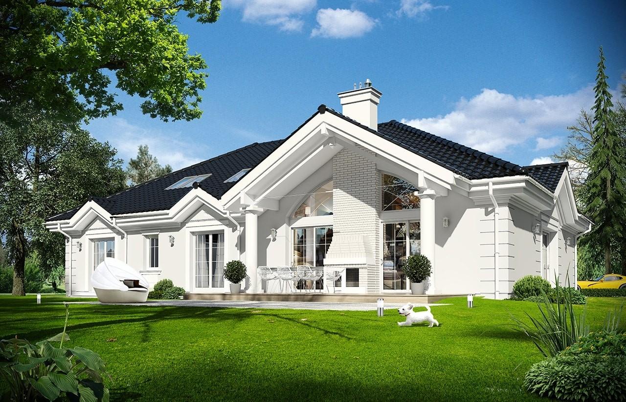 Projekt domu Rezydencja Parkowa 3 - wizualizacja tylna odbicie lustrzane