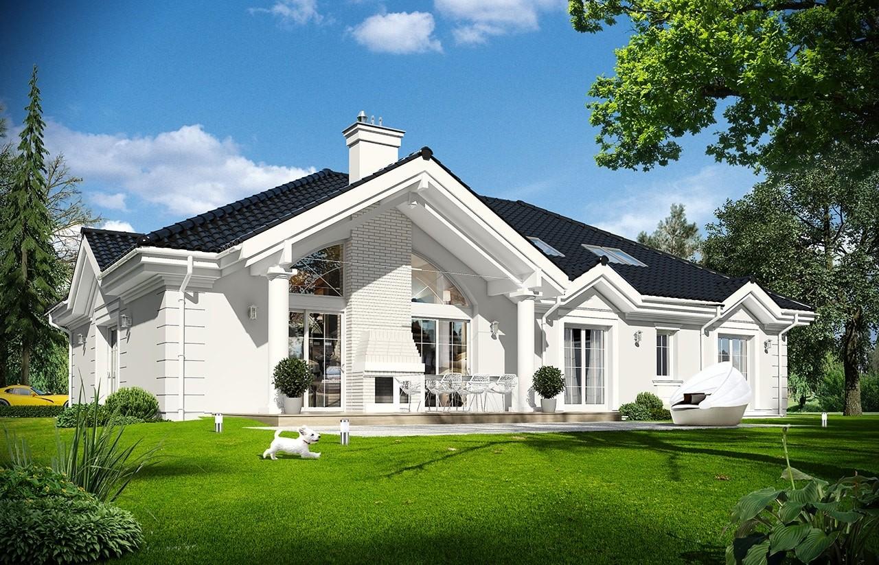 Projekt domu Rezydencja Parkowa 3 - wizualizacja tylna