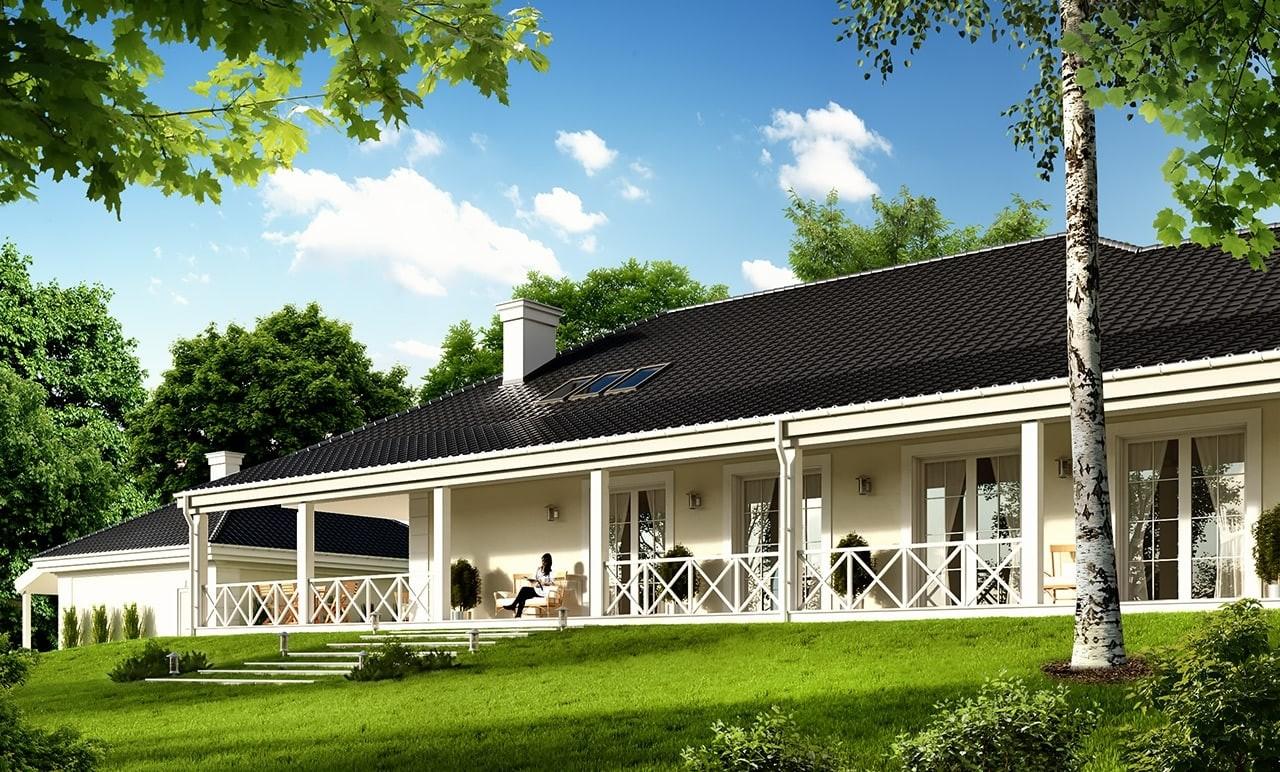 Projekt domu Rezydencja Parkowa 4 - wizualizacja tylna
