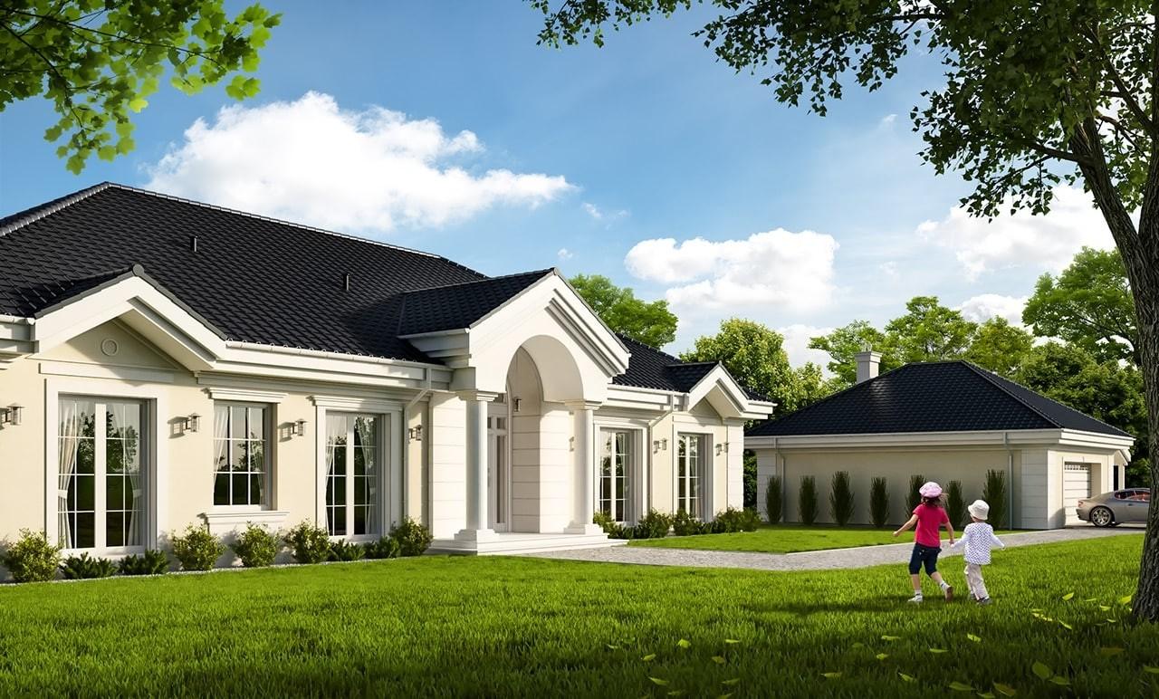 Projekt domu Rezydencja Parkowa 4 - wizualizacja frontowa
