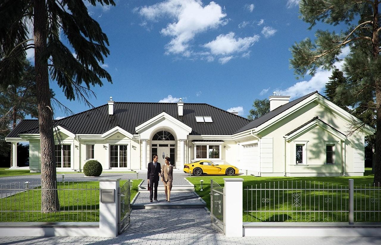 Projekt domu Rezydencja Parkowa - wizualizacja frontowa