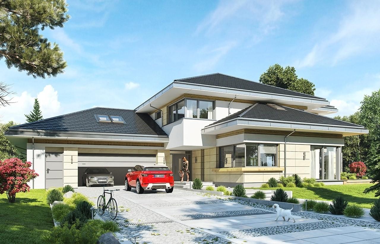 Projekt domu Rezydencja z widokiem - wizualizacja frontowa