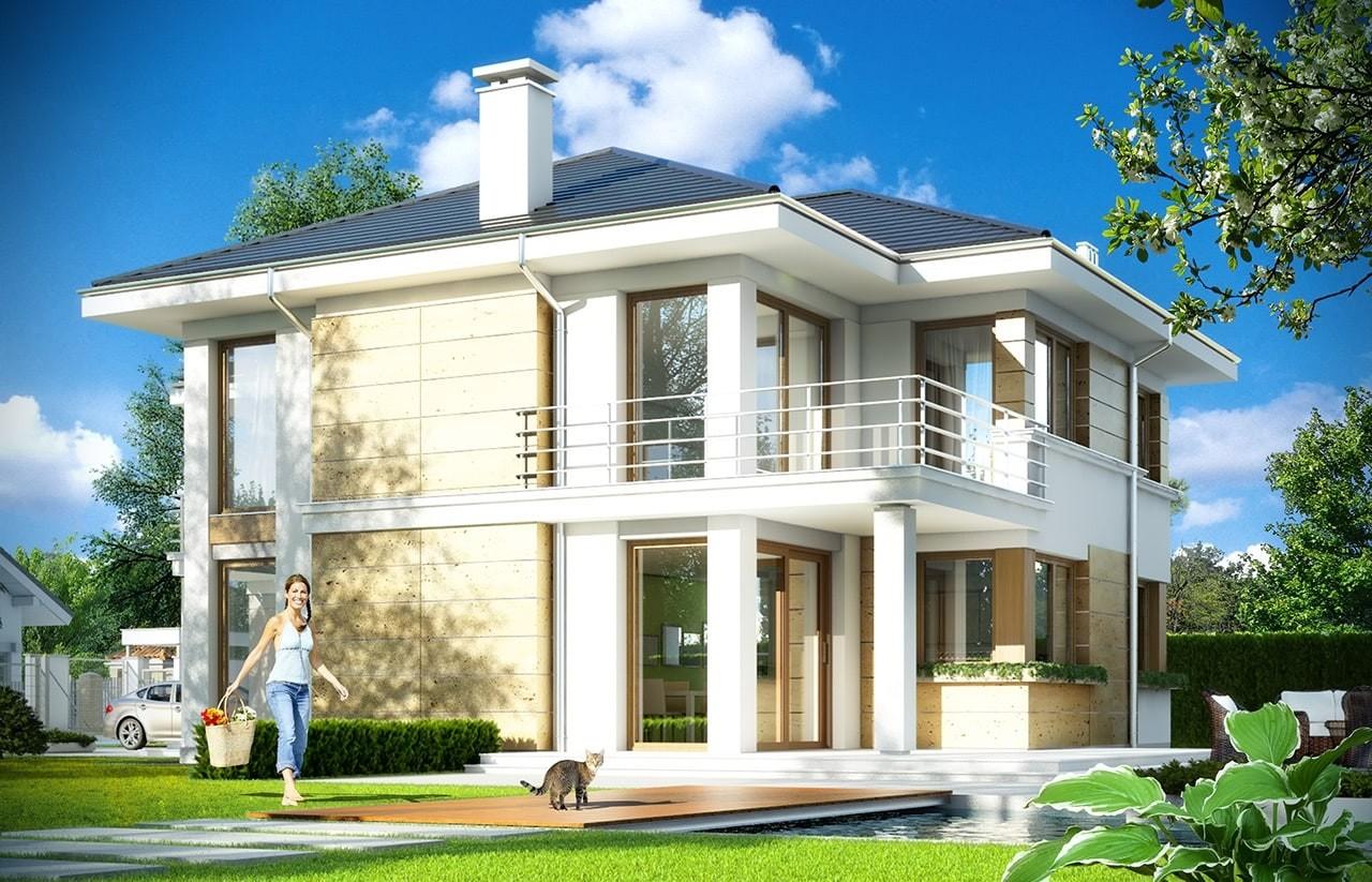Projekt domu Riwiera 2 - wizualizacja tylna