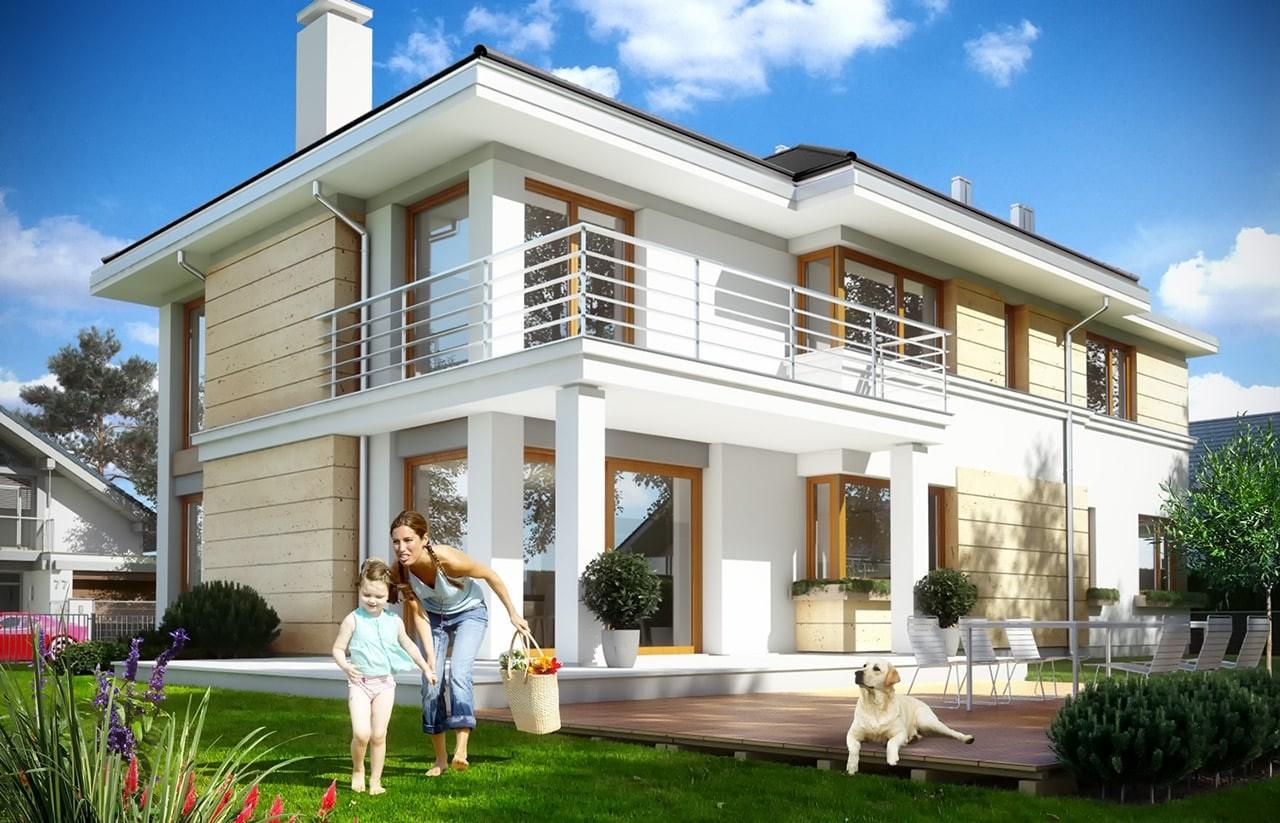 Projekt domu Riwiera 3 - wizualizacja tylna