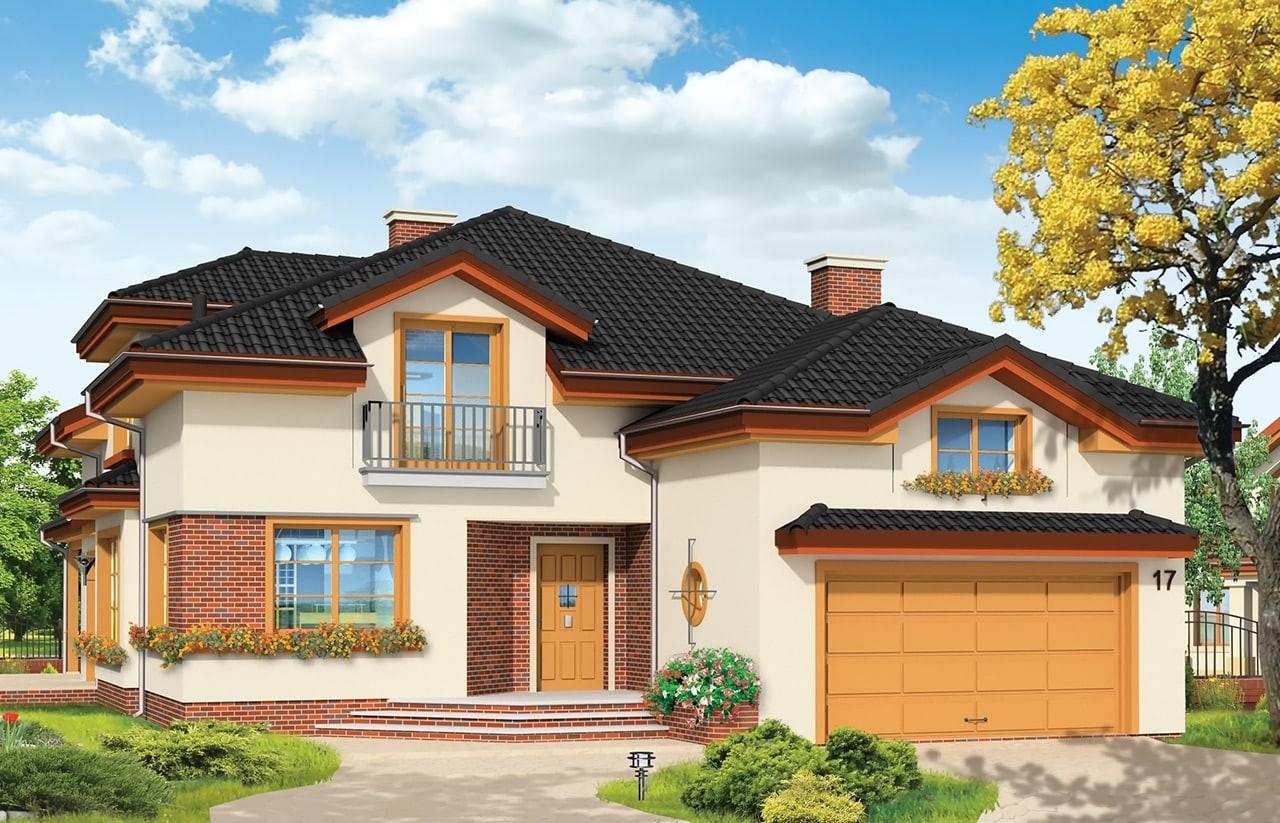 Projekt domu Rodzinny - wizualizacja frontowa