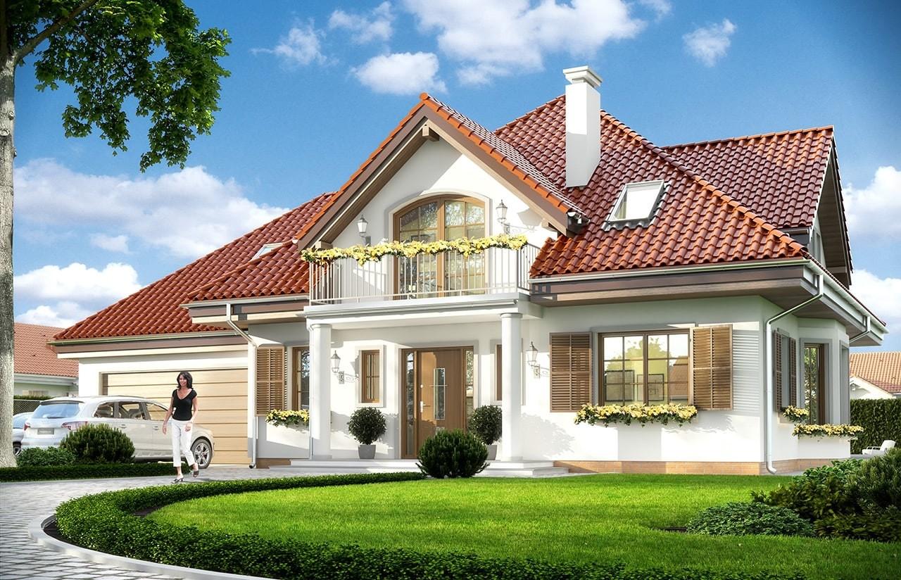 Projekt domu Romeo - wizualizacja frontowa