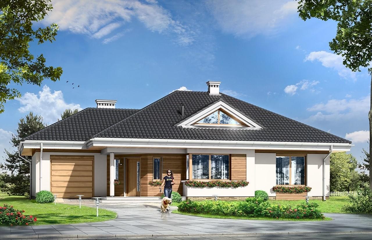 Projekt domu Rozwojowy - wizualizacja frontowa