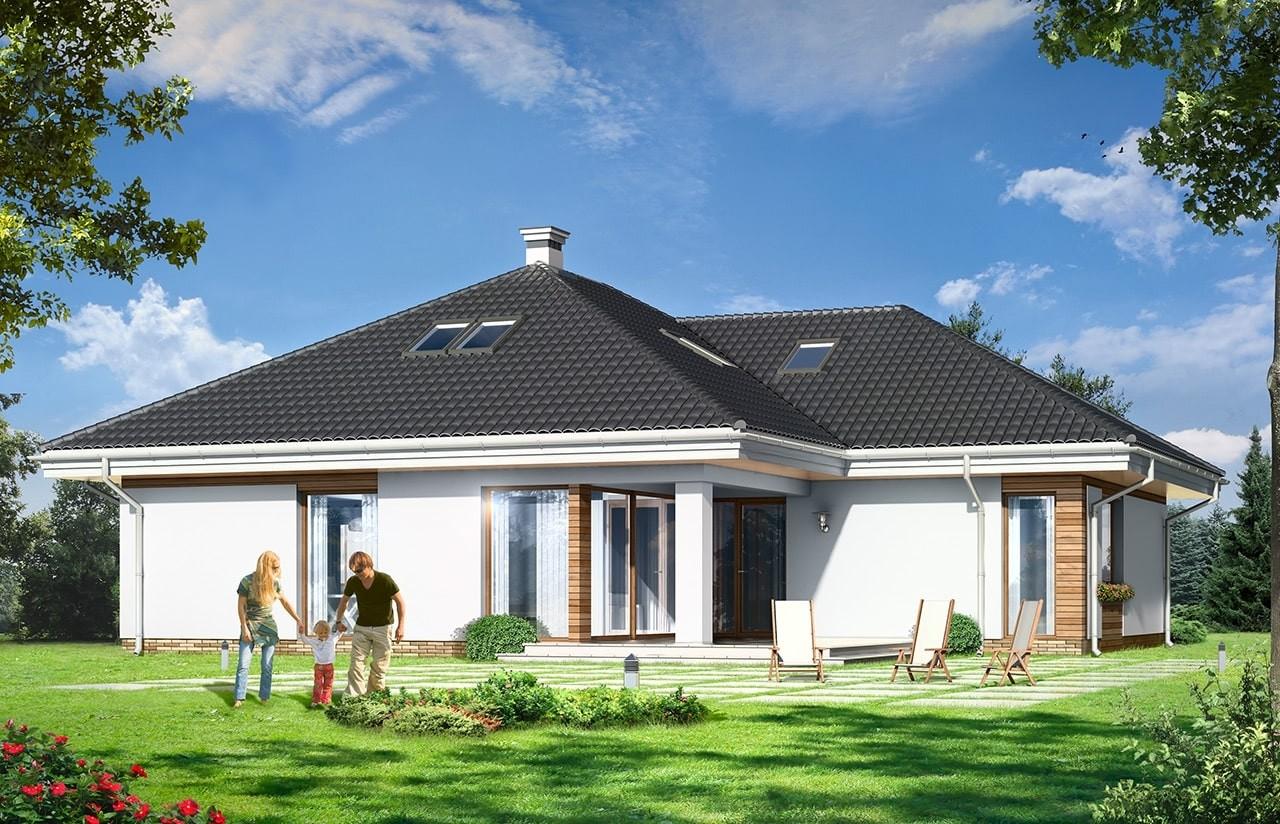 Projekt domu Rozwojowy - wizualizacja tylna