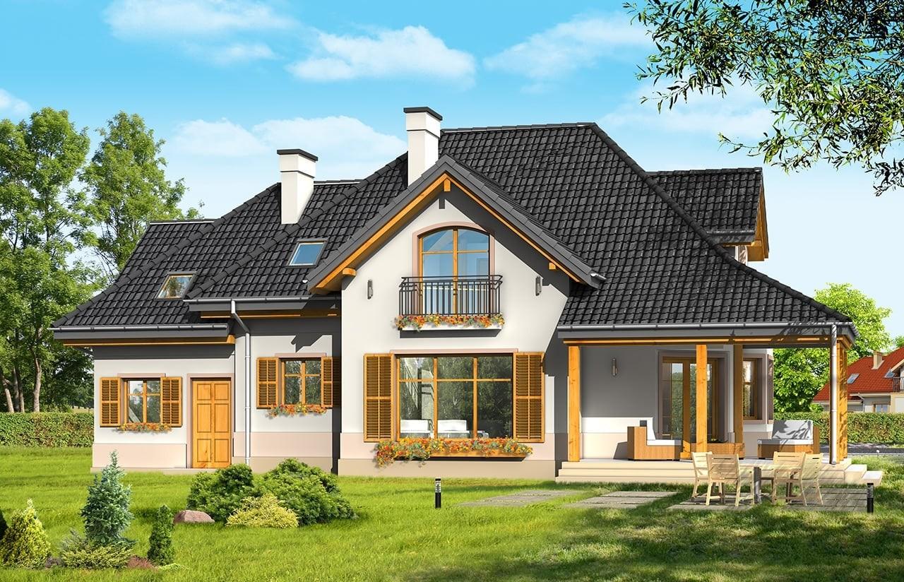 Projekt domu Rubin 3 - wizualizacja tylna