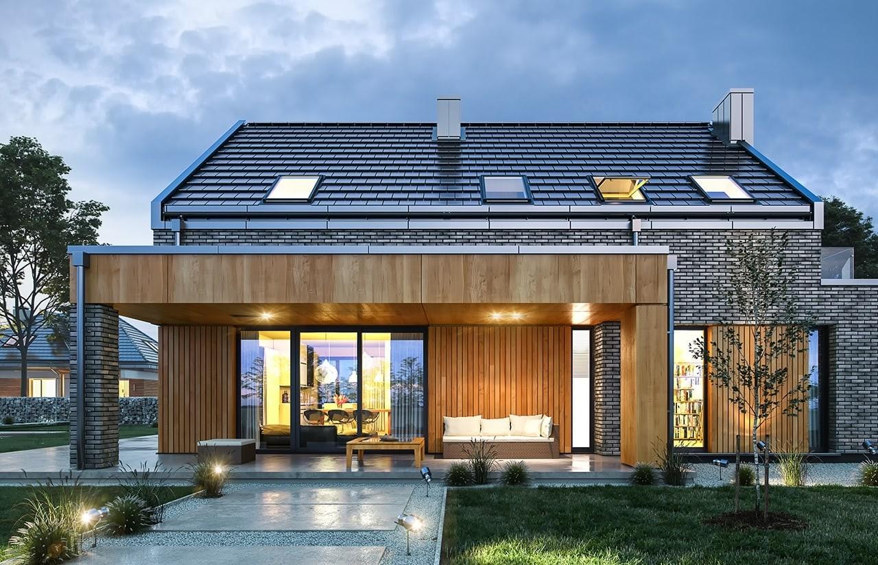 Projekt domu Rumba - wizualizacja tylna
