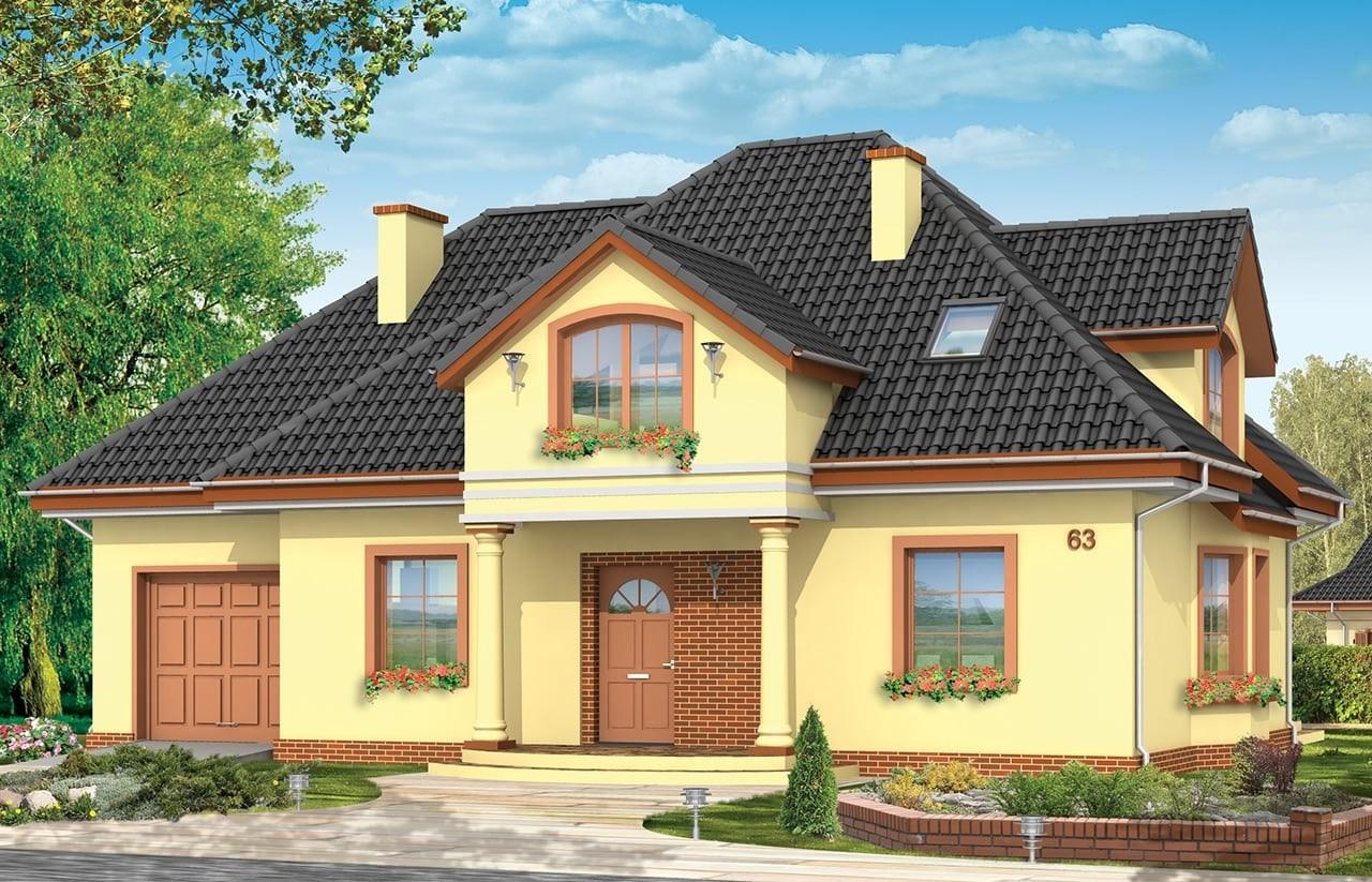 Projekt domu Saga 2 - wizualizacja frontowa