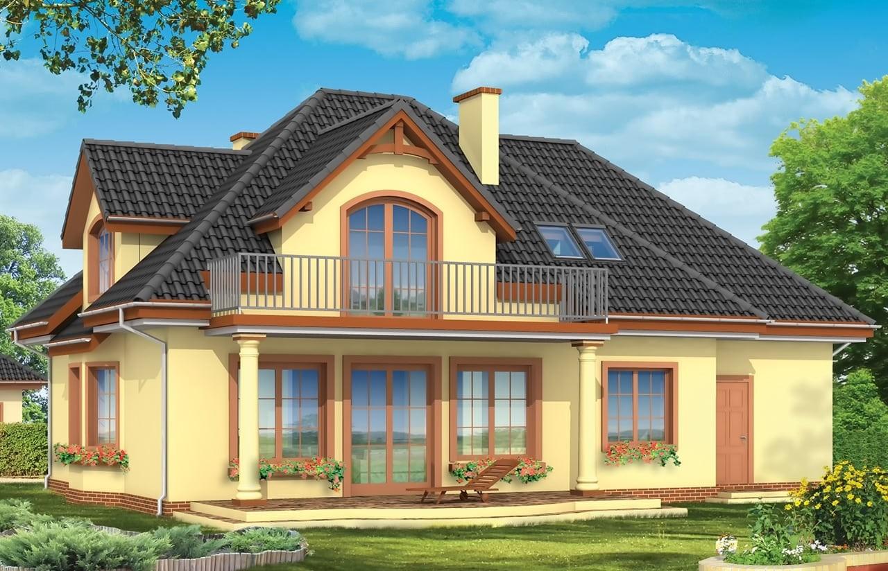 Projekt domu Saga 2 - wizualizacja tylna