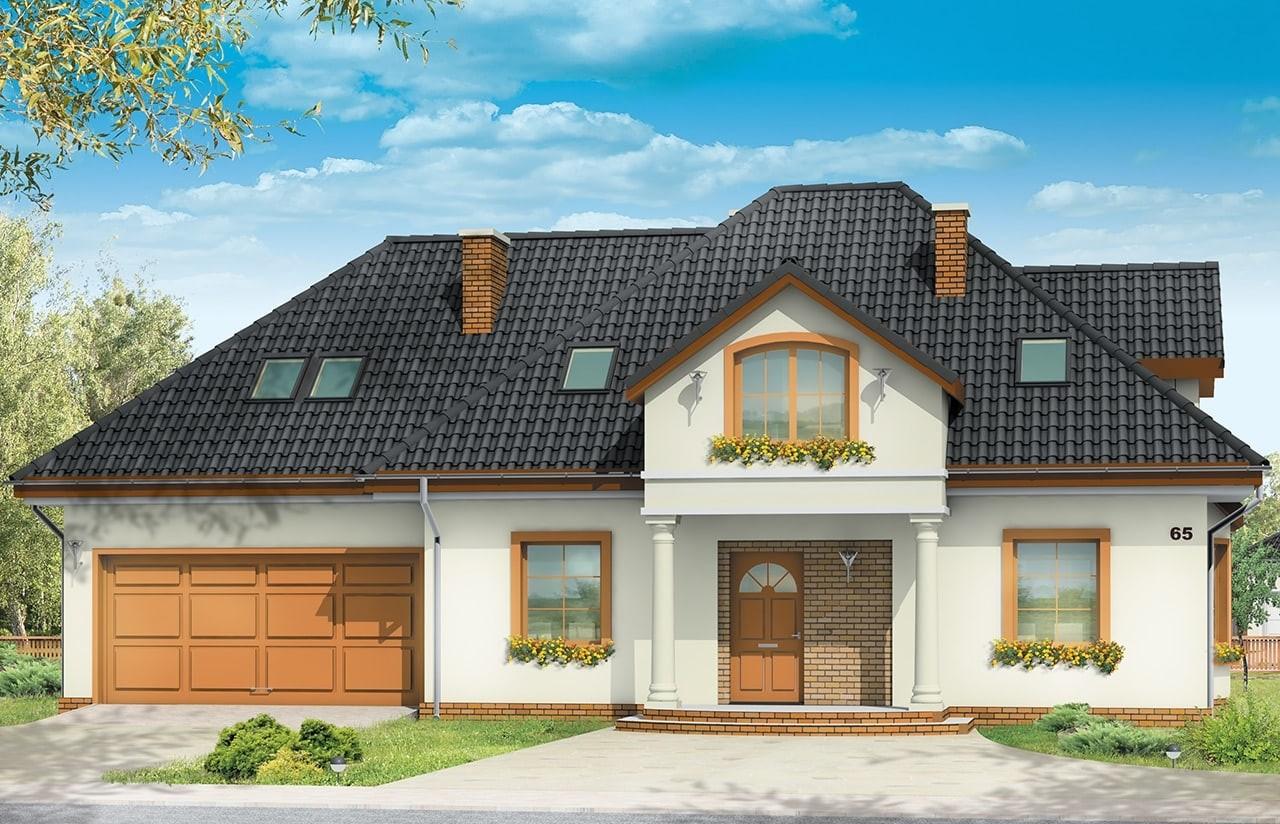 Projekt domu Saga 3 - wizualizacja frontowa